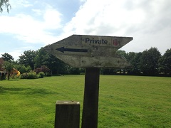 Private sign in Navestock